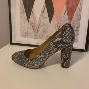 Banana Republic snake skin print heel pumps